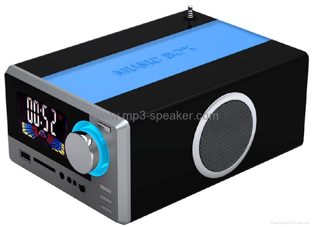 usb sd card speaker with fm radio tk 013 heritek. Black Bedroom Furniture Sets. Home Design Ideas