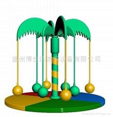 供應電動淘氣堡 椰子樹