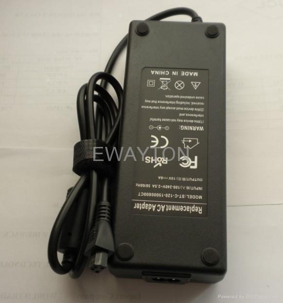 Toshiba 15v 8a 4 hole Laptop Adapter 1
