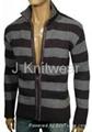 Men Stripe Knitted Wool Sweater