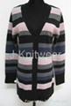 Lady Stripe Knit Alpaca Sweater
