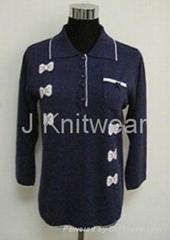 绣花针织衫