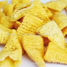 bugles chips/ Crispy Pea Inflating Food Processing Line