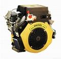 V-Twin Diesle engine 15-22HP 1