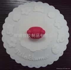 硅胶花型杯盖