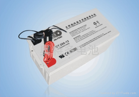 太陽能路燈膠體蓄電池 1