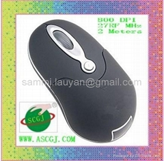 HOT SELL 27Mhz RF wireless mouse operator distance 2 meter