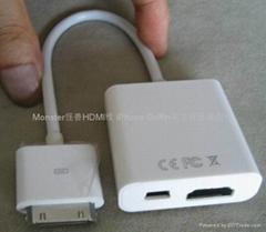 ipad2 Digital AV Adapter to HD