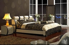 Baland Leather Bed