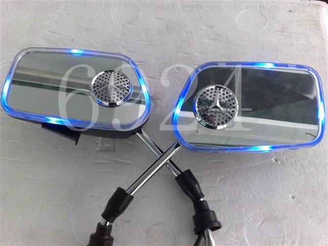 摩托車后視鏡音響帶彩燈后視鏡MP3 2
