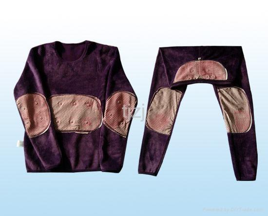 紫色珊瑚绒套装 1