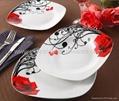 20pcs square porcelain plate