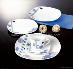 20pcs square porcelain plate