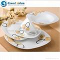 20pcs square ceramic tableware