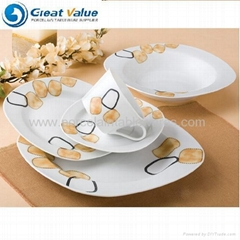 20pcs square ceramic tableware