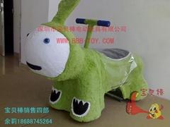 儿童电动毛绒动物玩具车