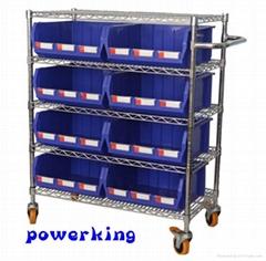 Custom wire shelving cart