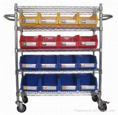 custom wire shelving trolley