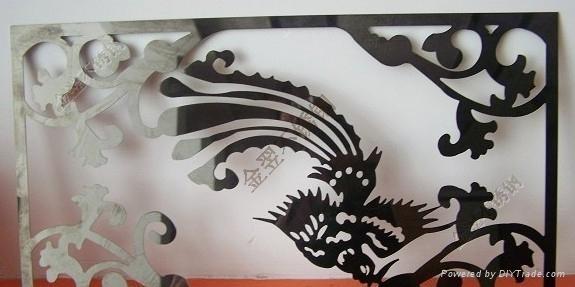 不锈钢激光镂空花纹加工