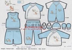 針織純棉嬰儿服裝