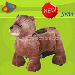 New Arrival plush zippy animal rides for kids in game lands