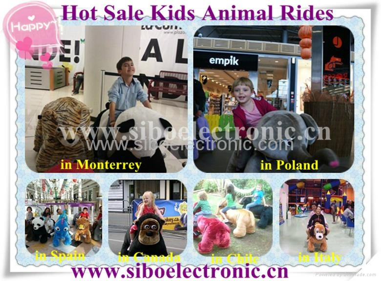 New Arrival plush zippy animal rides for kids in game lands 2