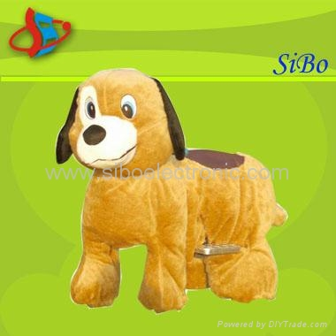 New Arrival plush zippy animal rides for kids in game lands 5