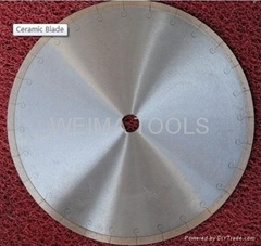 Music slot cutting blade for ceramic