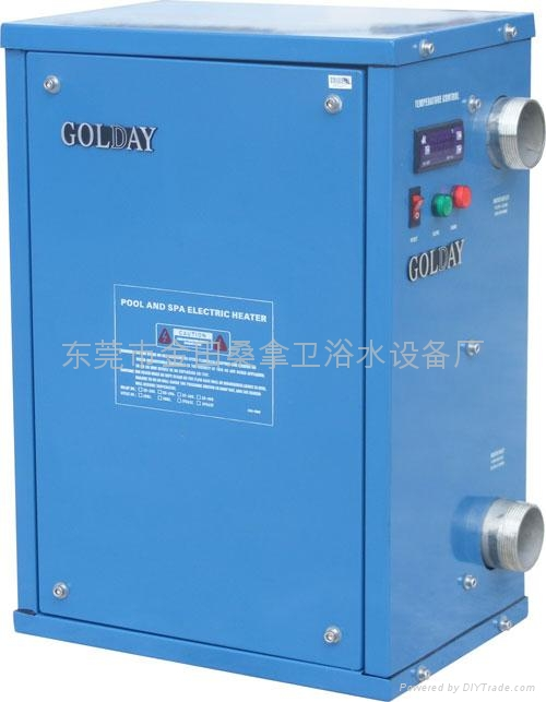 Swimming Pool Heaters 5kw 72kw Electric Water Heater 33818ce Golday China Manufacturer