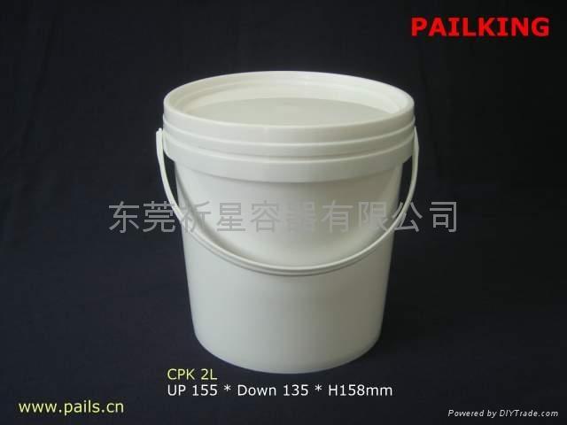 供应2L塑胶化工洗衣粉食品密封桶 1