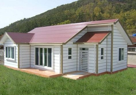 Fast construction house eps sandwich panel vj t800 for Panel built homes