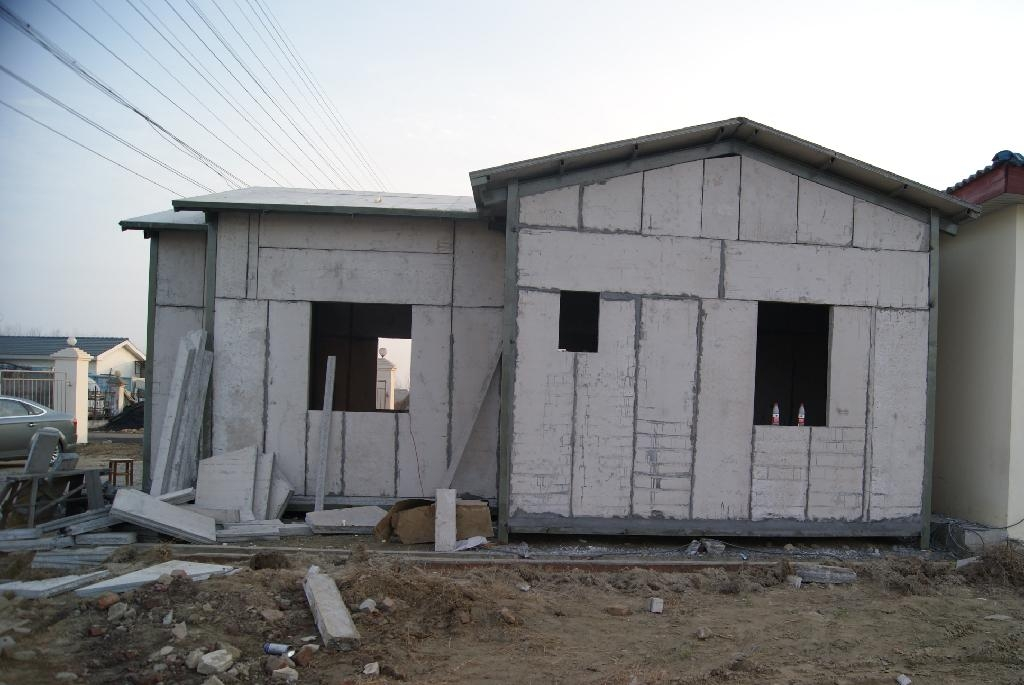 Fast construction house eps sandwich panel vj t800 for Panel house construction