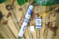classical gift Blue & White porcelain pen for promotion