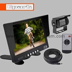 "7 "" rear view monitor with heavy duty camera"
