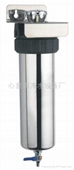 Auto-flush household water filter