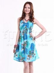 批发供应印巴文化南亚风情女装纯棉钉珠吊带裙