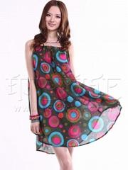 供应批发时尚女装纯棉钉珠连衣裙