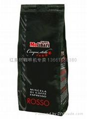 原装进口意大利红牌molinari咖啡豆