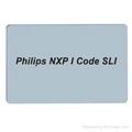 I-CODE SLI White PVC Card