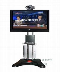 視頻會議電視推車42-72寸通用