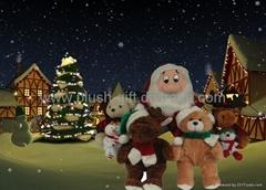 圣诞毛绒/填充/公仔/礼品