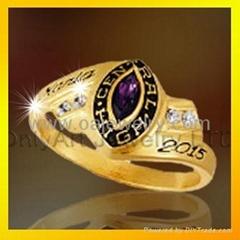 brass custom made class rings for