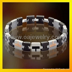 mens 316l stainless steel promise bracelet  jewellery with gold plated
