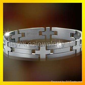 mens 316l stainless steel promise bracelet  jewellery with gold plated 3