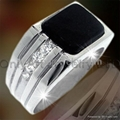 good quality fashion 925 solid silver ring with rhodium plated and CZ 4