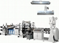 PVC.PE.PMM.ABS Multi-sheet production line for the squeeze