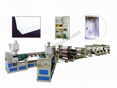 ABS PS HIPS and PMMA Sanitaryware Plate Refrigerator Plate Extrusion Line