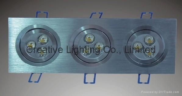 LED DOWNLIGHT 9W/9*1W/square light/ceiling lights 1