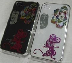 手机装饰壳彩雕生肖