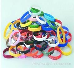 customized silicone band bracelet